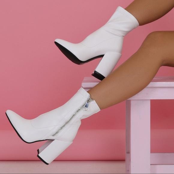 e98df911fd04 NEW Public Desire Renzo Sock Fit Ankle Boots 👢